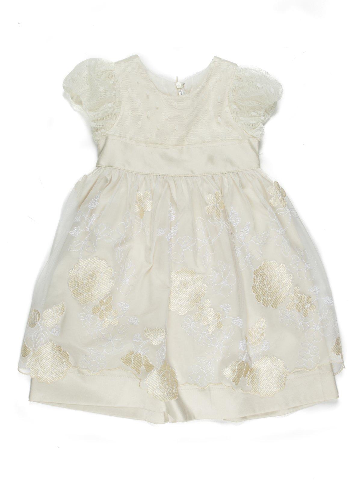 Сукня бежева з вишивкою | 711726
