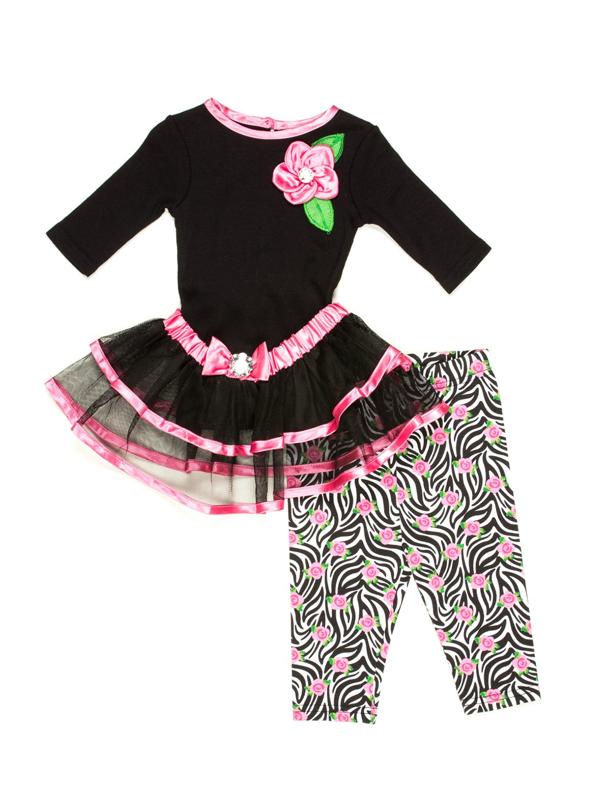 Комплект: топ, юбка и леггинсы | 502999
