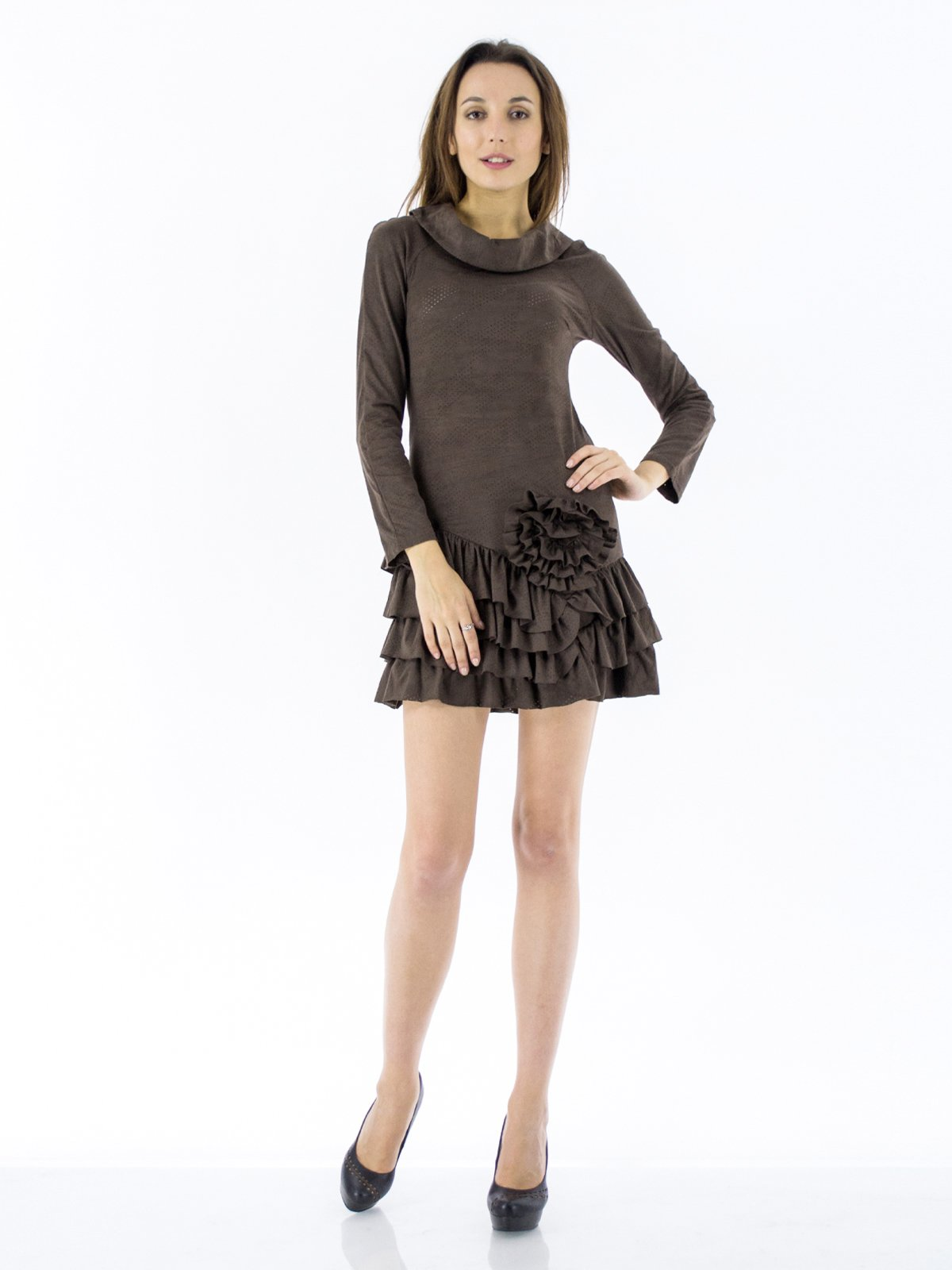 Платье коричневое   155232