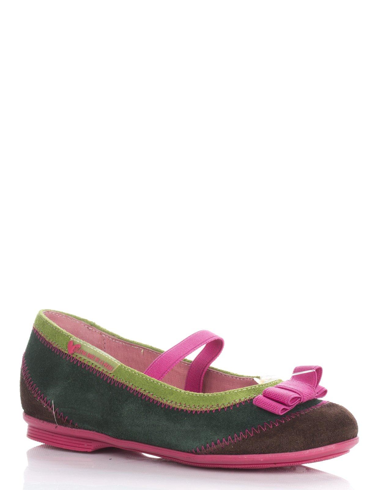 Туфли разноцветные с бантиком | 677930