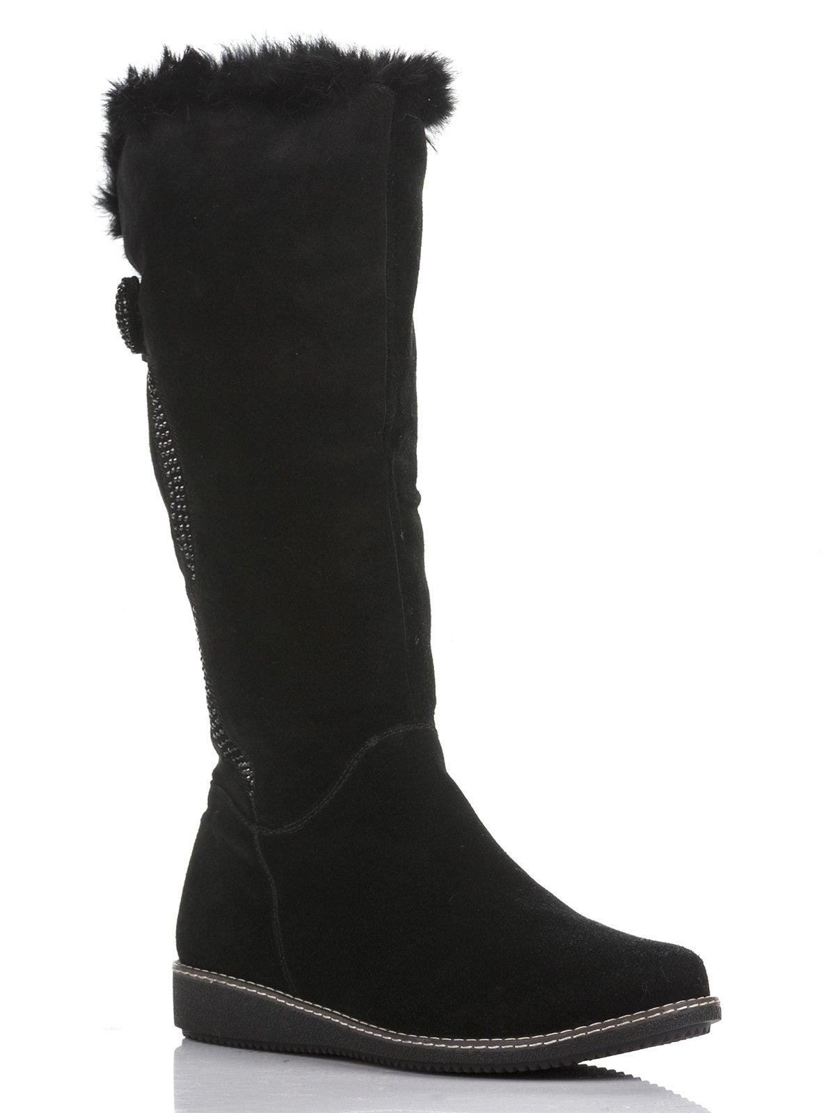 Сапоги черные декорированные | 804750