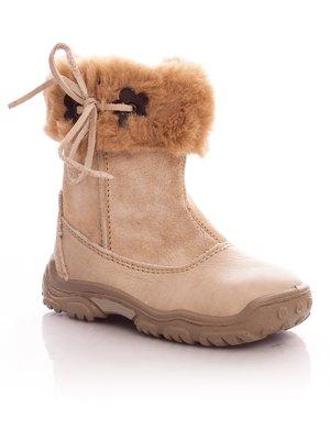 Ботинки бежевые на молнии | 34850