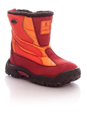 Ботинки красно-оранжевые на молнии | 34853