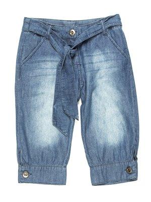 Капри синие джинсовые | 597284