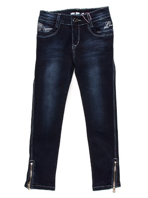 Джинси темно-сині з вишивкою | 853868
