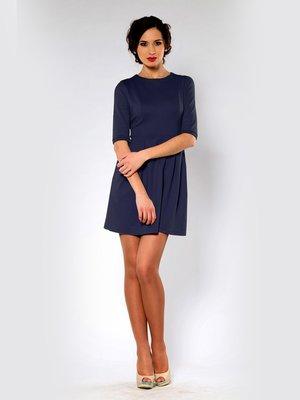 Сукня А-силуету темно-синя | 864996