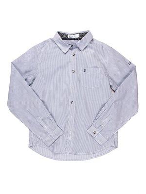 Сорочка біло-блакитна в смужку | 903323