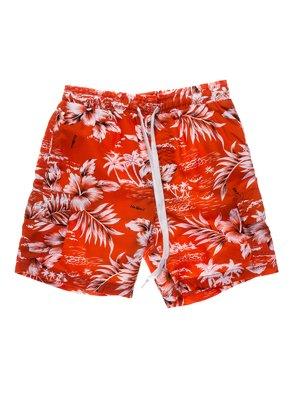 Шорти помаранчеві в принт пляжно-купальні | 933691