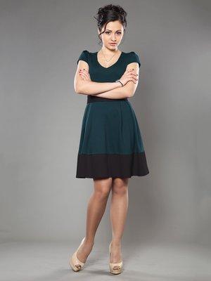 Платье бирюзово-черное | 953389