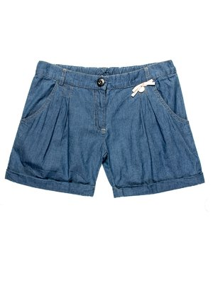 Шорты сине-голубые джинсовые | 959028