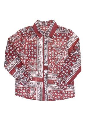 Рубашка бордовая в восточный орнамент | 973731
