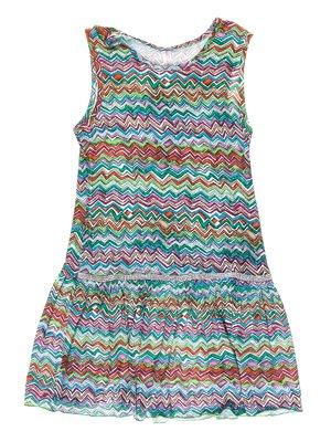 Сукня різнокольорова в зигзагоподібну смужку | 973713