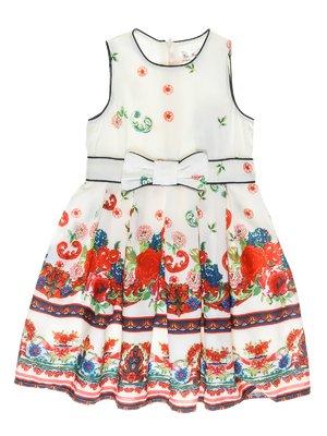 Сукня молочного кольору з яскравим малюнком | 973716