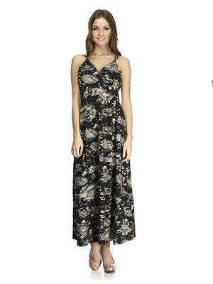 Платье черное в абстрактный принт | 972757