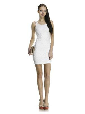 Сукня біла ажурна | 913423