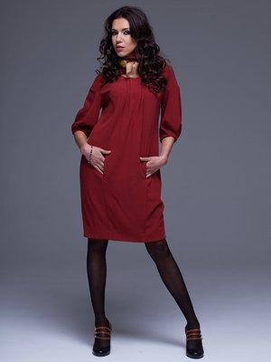 Платье терракотово-бордовое | 1003052
