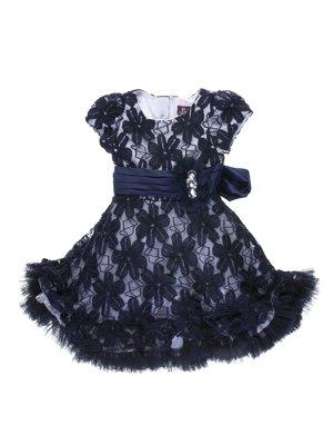Сукня синьо-біла гіпюрова   755072