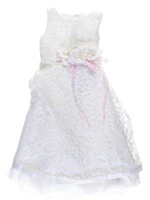 Платье молочного цвета гипюровое | 755076