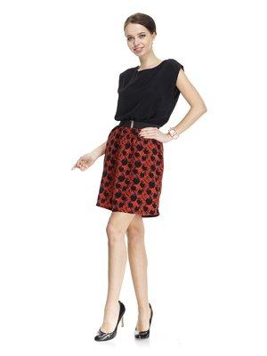 Сукня чорна з принтом | 1001550