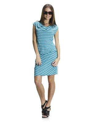 Сукня бірюзова в смужку | 1015543