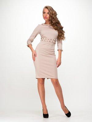 Платье бежевое | 1004463