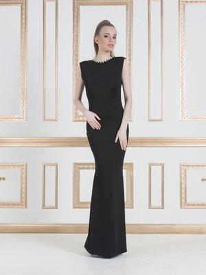 Сукня чорна декорована | 1029372