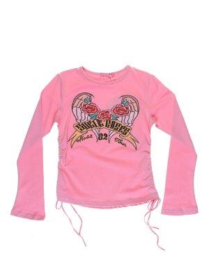 Лонгслів рожевий з вишивкою   1051246