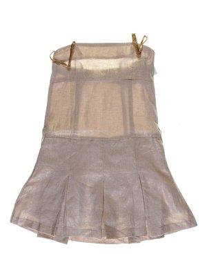 Платье бежево-золотистое | 1051130