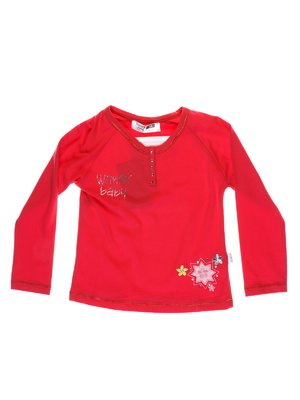Реглан красный с вышивкой | 1051436