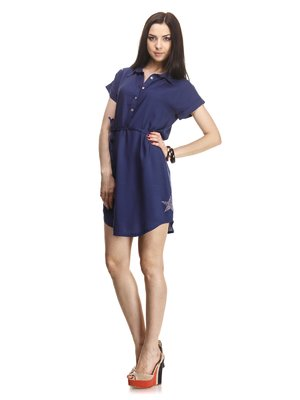 Платье-туника темно-синее - Play New - 1061137
