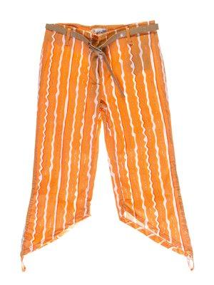 Капри оранжевые в полоску | 1076729