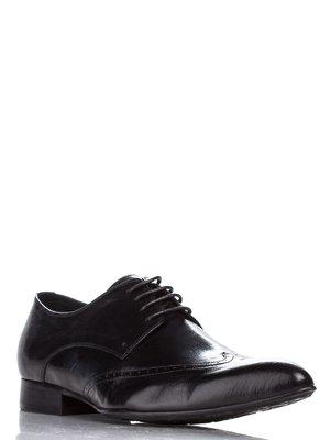 Туфлі чорні з перфорацією | 1077601