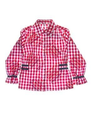 Рубашка красная клетчатая | 1076735