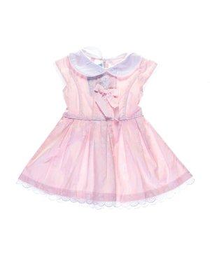 Платье светло-розовое в цветочный принт | 1076898
