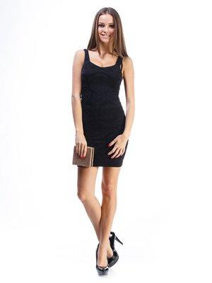 Сукня чорна ажурна | 913422