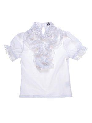Блуза белая с оборками | 1236946