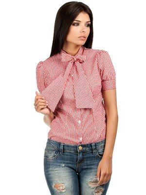 Блуза клетчатая с бантиком-завязкой | 1240169