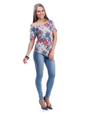 Блуза в цветочный принт | 976228