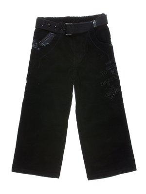 Брюки черные с надписями | 1269850