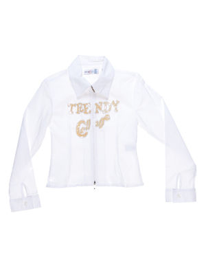 Сорочка біла з написом і декором | 1270012