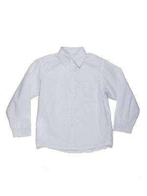 Сорочка біла з накладною кишенею | 449427