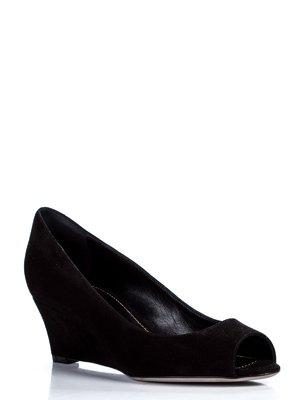 Туфли черные с открытым носком   980494