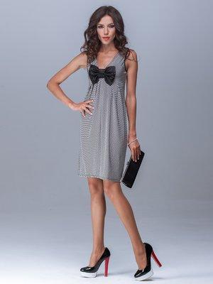 Платье в полоску с бантиком | 1330918