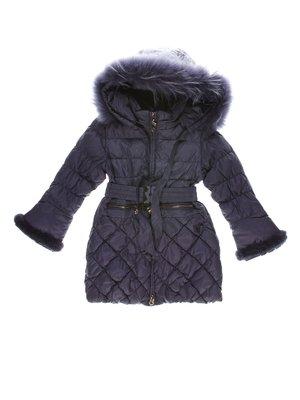 Пальто фіолетове пухове | 1342394