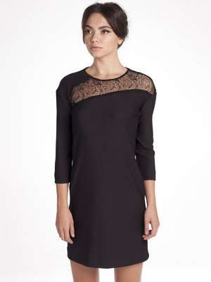 Сукня чорна з мереживом | 1345852