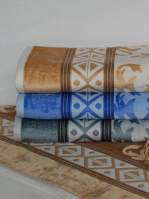 Полотенце махровое для бани голубое (70х140 см) | 1316801