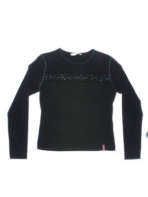 Джемпер чорний з рюшами і декором | 1364759