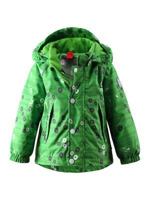 Куртка зеленая в принт | 1378018