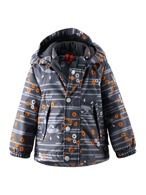 Куртка темно-синя в принт | 1378019