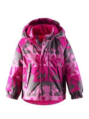 Куртка розово-серая в принт | 1378020